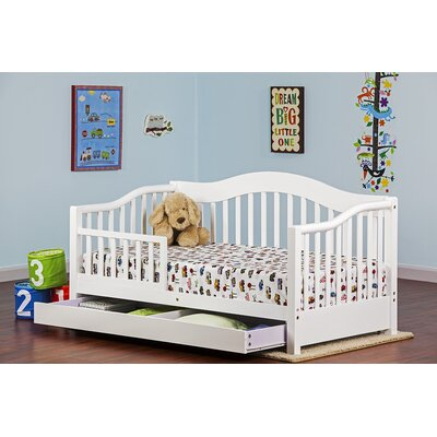 Toddler Bed with Storage Finish: White