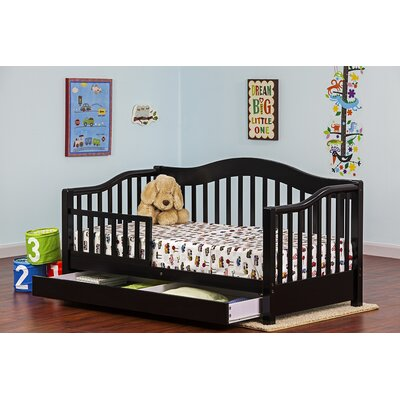 Toddler Bed with Storage Finish: Black