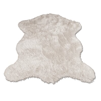 Jerod Polar Bear Pelt Faux Fur White Area Rug Rug Size: Novelty 23 x 38
