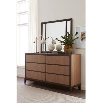 Alysa 6 Drawer Dresser with Mirror