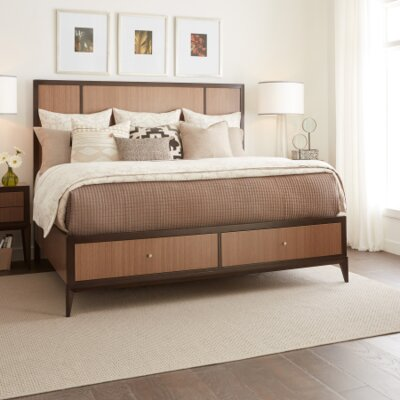 Vivian Panel Bed with Storage Footboard Size: Queen
