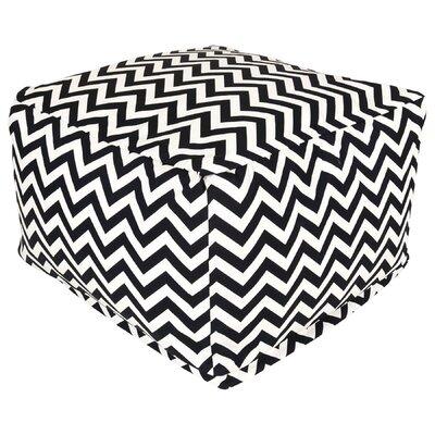Jamaal Pouf Ottoman Upholstery: Black