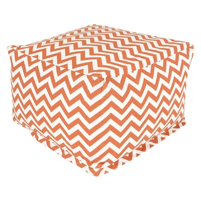 Jamaal Pouf Ottoman Upholstery: Burnt Orange