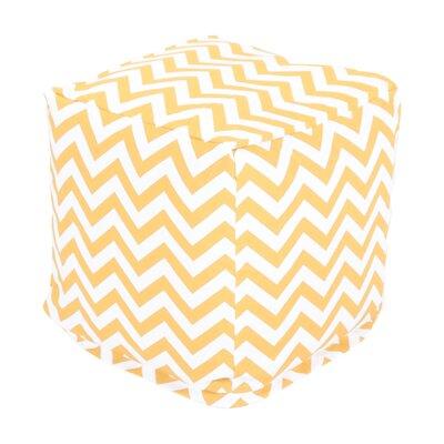 Jamaal Pouf Ottoman Upholstery: Yellow