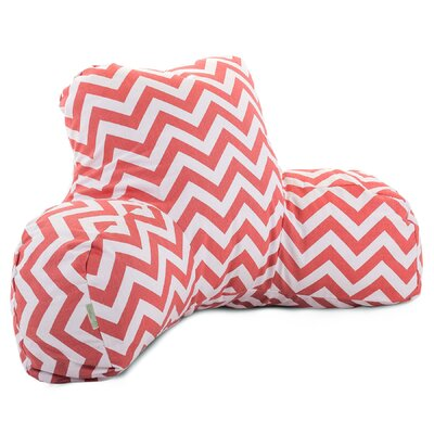 Aspen Bed Rest Pillow Color: Coral