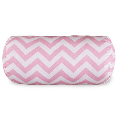 Aspen Chervon Cotton Bolster Pillow Color: Baby Pink