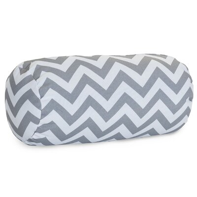 Aspen Chervon Bolster Pillow Color: Gray