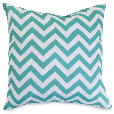 Aspen Throw Pillow Fabric: Teal, Size: Large