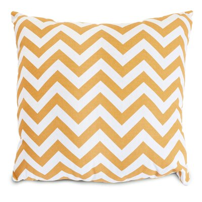 Aspen Throw Pillow Fabric: Yellow, Size: Extra Large