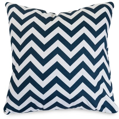 Aspen Throw Pillow Fabric: Navy, Size: Large