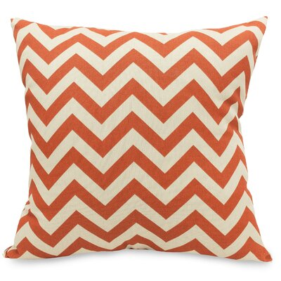 Aspen Throw Pillow Fabric: Burnt Orange, Size: Extra Large