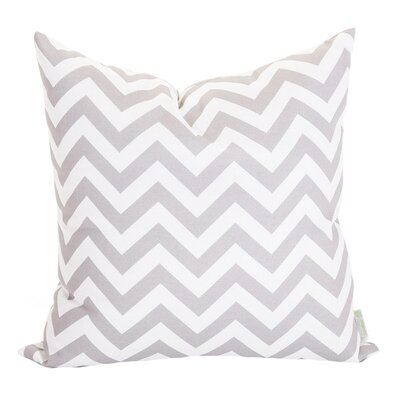 Aspen Throw Pillow Fabric: Gray, Size: Large