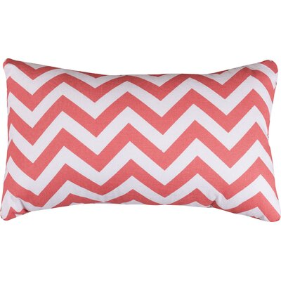 Aspen Chervon Lumbar Pillow Color: Coral