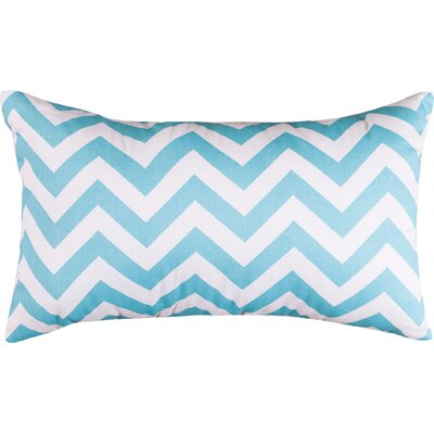 Aspen Chervon Lumbar Pillow Color: Tiffany Blue