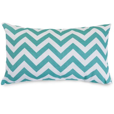 Aspen Chervon Lumbar Pillow Fabric: Teal