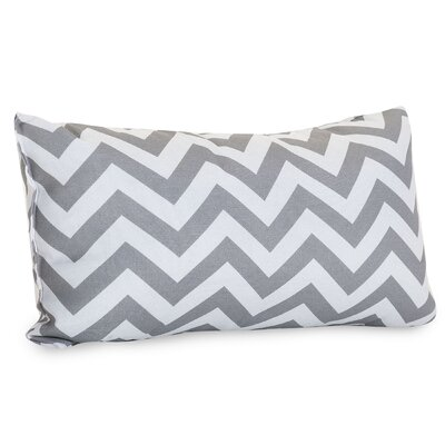Aspen Chervon Lumbar Pillow Fabric: Gray