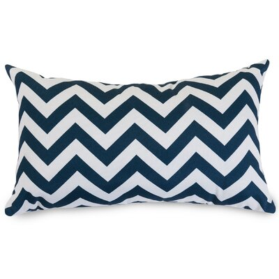 Aspen Chervon Lumbar Pillow Fabric: Navy