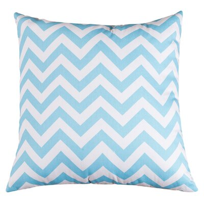 Aspen Chervon Throw Pillow Color: Tiffany Blue, Size: Extra Large