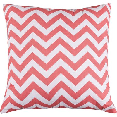 Aspen Chervon Throw Pillow Color: Coral, Size: Extra Large