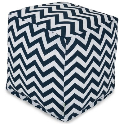 Aspen Small Cube Fabric: Navy