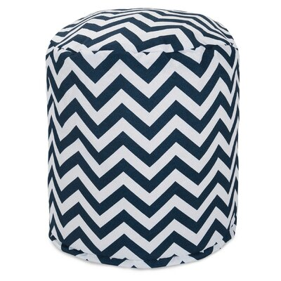 Aspen Small Pouf Fabric: Navy