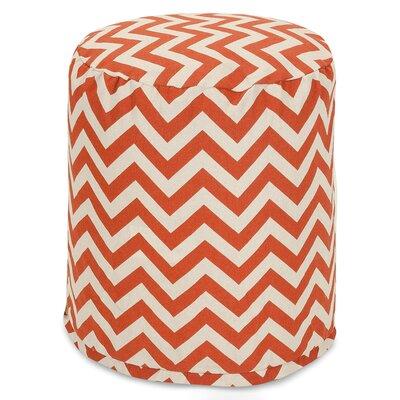 Aspen Small Pouf Fabric: Burnt Orange