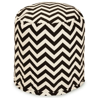 Aspen Small Pouf Fabric: Black