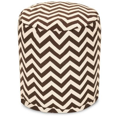 Aspen Small Pouf Fabric: Chocolate