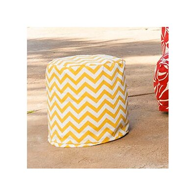 Aspen Small Pouf Fabric: Yellow