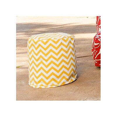 Aspen Small Pouf Fabric: Yellow