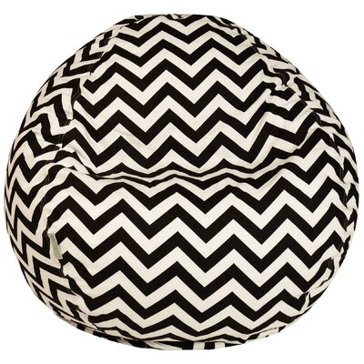 Aspen Bean Bag Chair Upholstery: Black