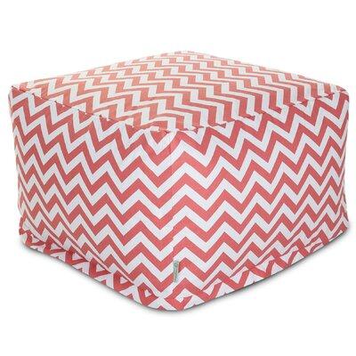 Aspen Pouf Upholstery: Coral