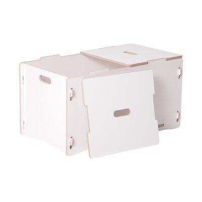 Halle Kids Toy Box Color: White VVRE2304 38148001