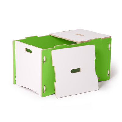 Halle Kids Toy Box Color: Green VVRE2304 38147998