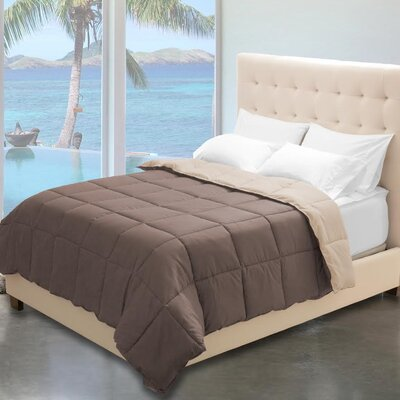 Karlie Reversible Comforter Color: Taupe/Sand, Size: King