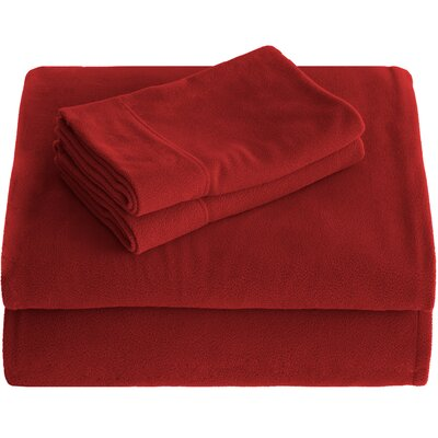 Karlie Cozy Micro Fleece Sheet Set Size: Queen, Color: Red