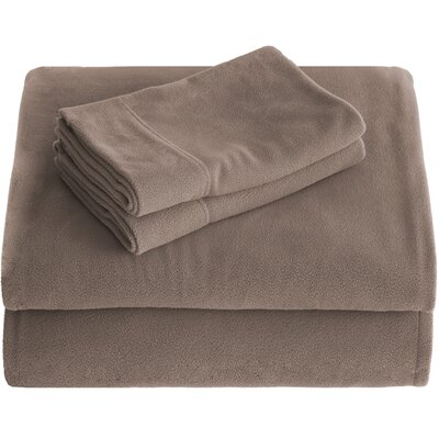 Karlie Cozy Micro Fleece Sheet Set Size: Queen, Color: Taupe