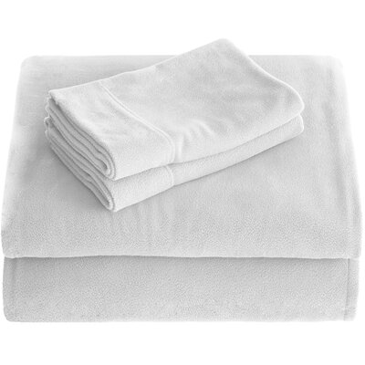 Karlie Cozy Micro Fleece Sheet Set Size: Twin XL, Color: White