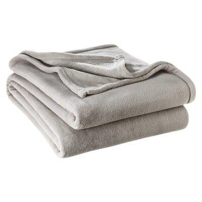 Karlie Ultra Soft Microplush Blanket Color: Grey, Size: Twin/Twin XL