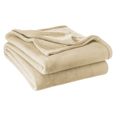 Karlie Ultra Soft Microplush Blanket Color: Oyster, Size: Twin/Twin XL