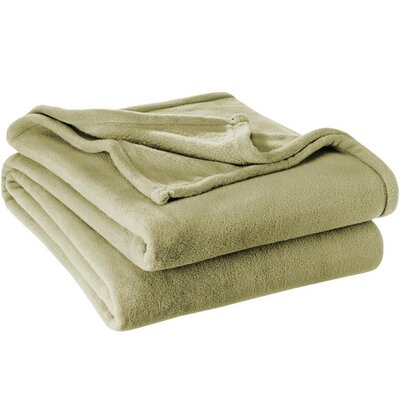 Karlie Ultra Soft Microplush Blanket Size: Full/Queen, Color: Sage