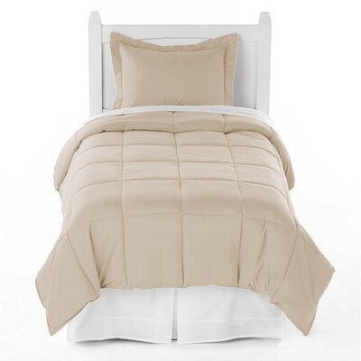 Karlie Ultra Soft Down Alternative 2 Piece Twin XL Comforter Set Color: Sand