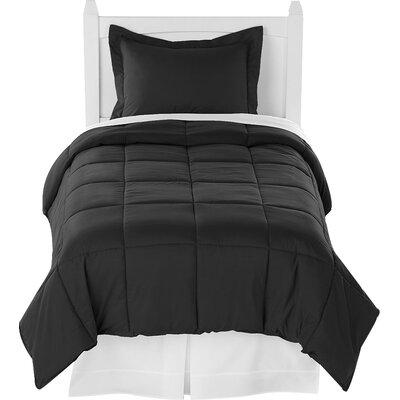 Karlie Ultra Soft Down Alternative 2 Piece Twin XL Comforter Set Color: Black