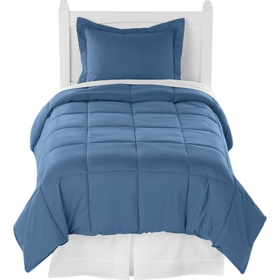 Karlie Ultra Soft Down Alternative 2 Piece Twin XL Comforter Set Color: Coronet Blue