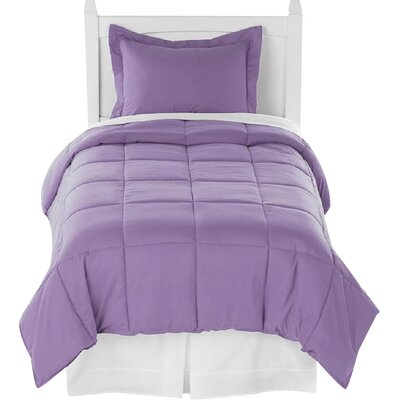Karlie Ultra Soft Down Alternative 2 Piece Twin XL Comforter Set Color: Lavender