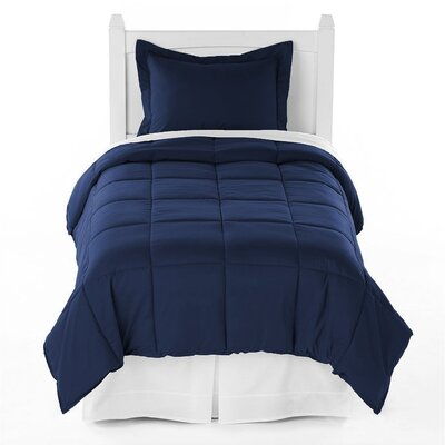 Karlie Ultra Soft Down Alternative 2 Piece Twin XL Comforter Set Color: Navy Blue