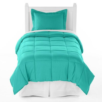Karlie Ultra Soft Down Alternative 2 Piece Twin XL Comforter Set Color: Turquoise