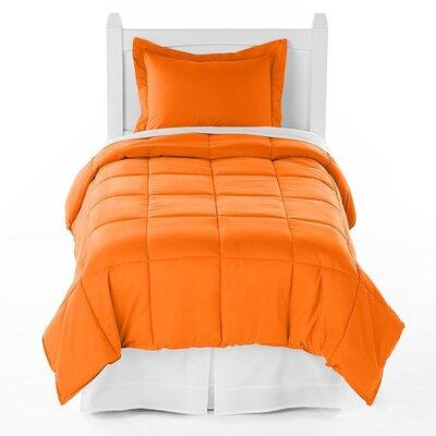 Karlie Ultra Soft Down Alternative 2 Piece Twin XL Comforter Set Color: Orange