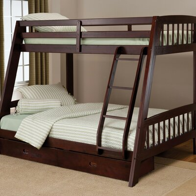 Madyson Twin over Full Bunk Bed with Storage Finish: Espresso