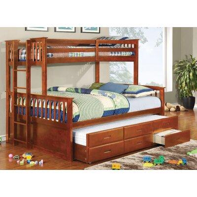 Sandra Twin over Queen Bunk Bed Color: Oak